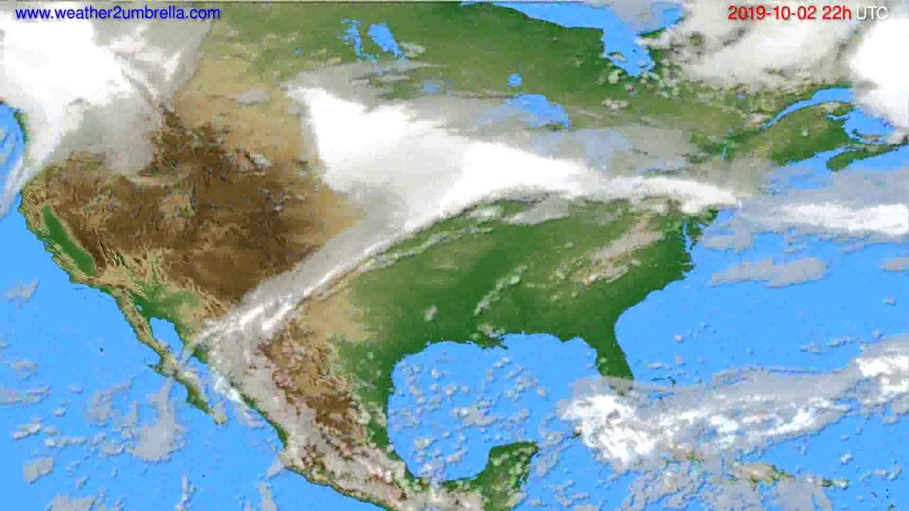 Cloud forecast USA & Canada // modelrun: 00h UTC 2019-09-30