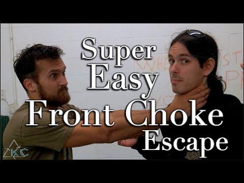 Super EASY Front Choke Escape – Kali Eskrima Empty Hand Techniques | Self Defense