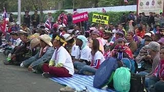 Thailand Stadium Surrounded By Protesters - BBC News