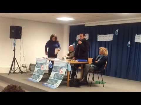 L'on.le Luigi Gallo del Movimento 5Stelle a Piano contro la GORI