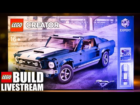 LEGO Ford Mustang Build Livestream! (Ep 58) - 10265