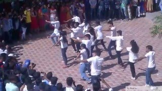 ORTUS'15 Vardhaman College of Engineering Flash Mob performed by College students