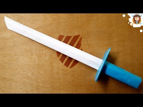 How to make a Sharp Paper Sword - (Tutorial) (VIDEO)