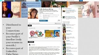 Adding a BLOG (aka Post) to your LinkedIn Profile.