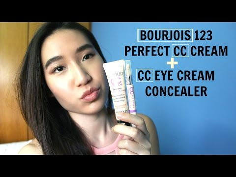 BOURJOIS 123 Perfect CC Cream + CC Eye Cream Concealer Review | FAVOURITE FOUNDATION || TrishhYoungg