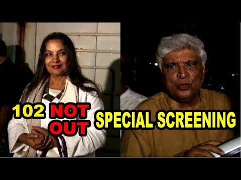 Javed Akhtar & Shabana Azmi At Special Screening Of Film 102 not out