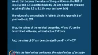 Mod-03 Lec-16 Generalized Correlations And Residual Properties