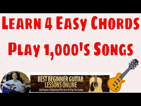 Learn 4 Chords To Play Thousands of Songs – Beginner Guitar Lessons
