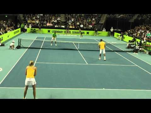 Federer/Sharapova vs Nadal/Azarenka at Nike Clash of The Champions