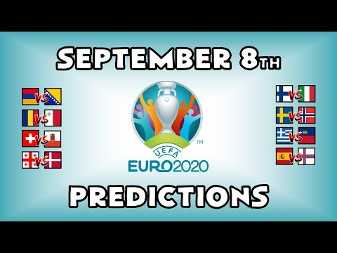 EURO 2020 QUALIFYING MATCHDAY 6 - PART 1 - PREDICTIONS