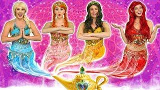 Video DISNEY PRINCESS GENIES! (What Happens to Ariel, Elsa, Belle, Jasmine, Rapunzel and Anna?) MP3, 3GP, MP4, WEBM, AVI, FLV Maret 2019