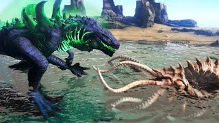 KRAKEN Vs GODZILLA!!! - ARK Survival Evolved Modded