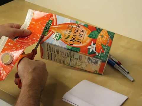 Making a Milk Carton Finch Nest