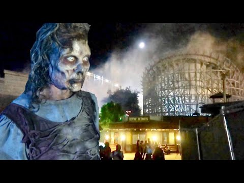 Fright Fest 2018 Opening Night at Six Flags Magic Mountain - Inside All The Mazes / Scare Zones (видео)