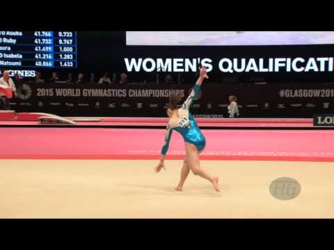 SILEONI Monica (FIN) - 2015 Artistic Worlds - Qualifications Floor Exercise
