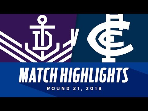 Fremantle V Carlton Highlights | Round 21, 2018 | Afl