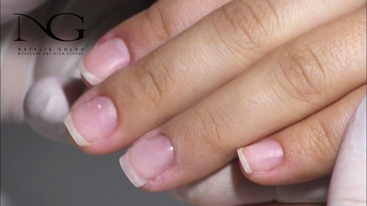 Маникюр. Смотреть онлайн: Наращивание ногтей топ базой