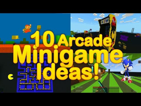 Minecraft - 10 arcade MINIGAME ideas / How to make EASY 10 arcade minigames!