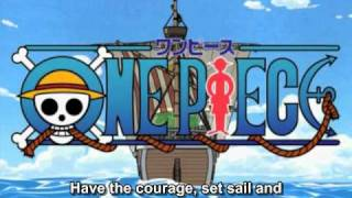 One Piece OP 04 - BON VOYAGE! (FUNimation English Dub, Sung by Brina Palencia, Subtitled)