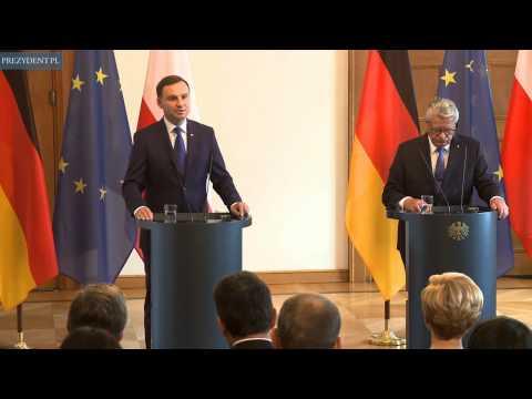 Präsident Andrzej Duda bei seiem ersten Besuch in Berlin
