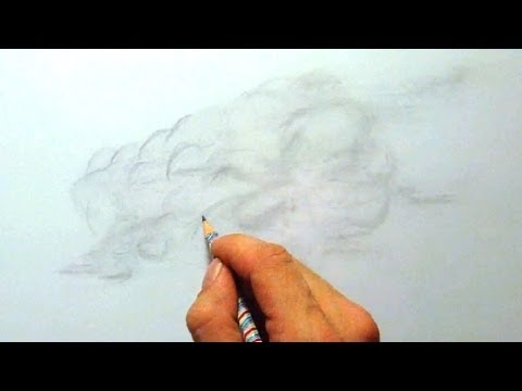 Wolken, zeichnen im Zeitraffer (Clouds, drawing in fast motion)[HD]
