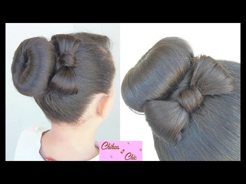 Hairstyle: Donut Bun Bow!! | Chikas Chic