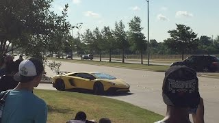 Sights and sounds of cars leaving Cars & Coffee