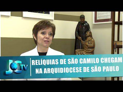 Relíquias de São Camilo chegam na Arquidiocese de São Paulo - JCTV