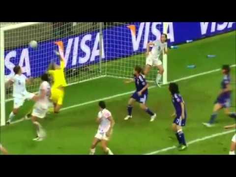 「[サッカー]なでしこジャパン澤穂希のW杯決勝土壇場同点ゴールをナイスアングルから。」のイメージ