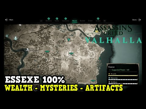 Assassin's Creed Valhalla Essexe All Collectibles (Wealth, Mysteries, Artifacts)