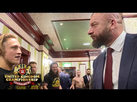 Triple H and William Regal confront Pete Dunne: Exclusive, Jan. 14, 2017 (видео)