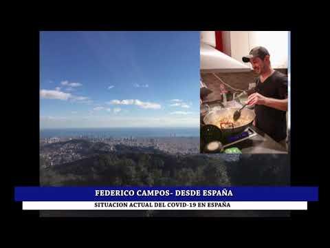 CUMBRENSE RADICADO EN ESPAÑA HACE VARIOS AÑOS: FEDERICO CAMPOS DESDE BARCELONA