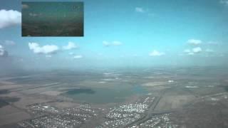 Flight of Quanum nova quadrocopter with FPV over 1000 meters altitude with crash on landing