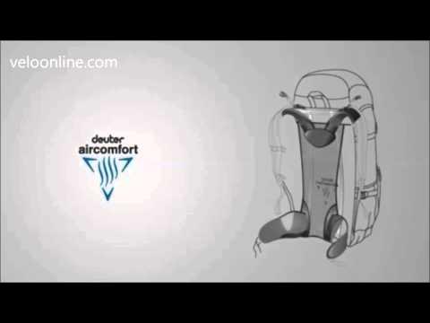 Видео о Велосипедный рюкзак Deuter CROSS AIR 20 EXP 2704 spring-black
