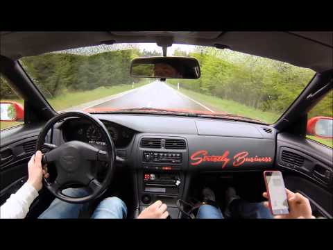 Nissan 200sx S14a/S13 drifts (tandem) on streets and nürburgring