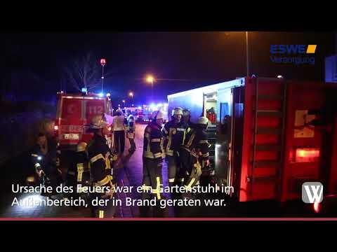 Wiesbaden: Feuer in einem Behindertenwohnheim
