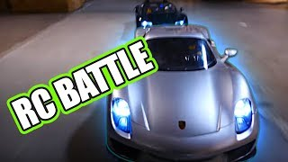 Porsche 918 Spyder vs Bugatti Veyron vs  RC213V Motorcycle in Action Pack RC Style.For these RC cars you can check us out at http://www.nitrorcx.com/