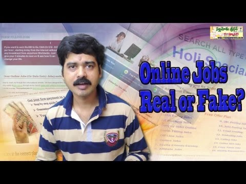Online Jobs Real or Fake? Must Watch