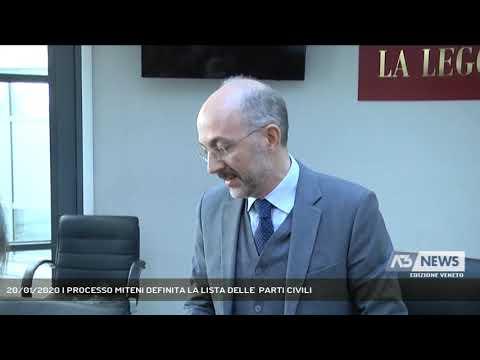 20/01/2020   PROCESSO MITENI DEFINITA LA LISTA DELLE  PARTI CIVILI
