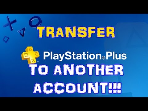 How to transfer PS PLUS to another account on PS4!!!