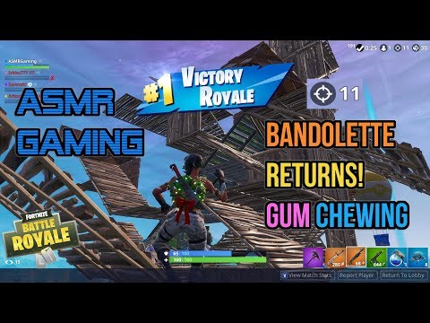 ASMR Gaming | Fortnite Bandolette Returns Relaxing Gum Chewing 🎮Controller Sounds + Whispering😴💤