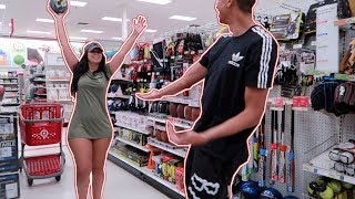 Basketball 1v1 in Target!! | Bri Martinez