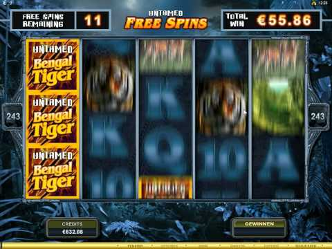 Untamed Bengal Tiger Slot   Freespin Feature Big Win