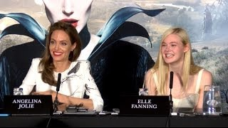 Angelina Jolie&Elle Fanning Interviews - Full Maleficent Press Conference