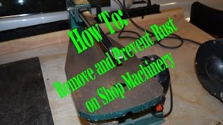 In this weeks video I show you how to remove rust from your cast iron shop tools and keep the rust from coming back with a product you probably already have in you garage right now.