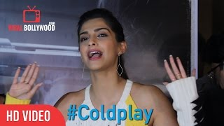 Sonam Kapoor's Reaction on Coldplay - Hymn For The Weekend - Official video | ViralBollywood Video