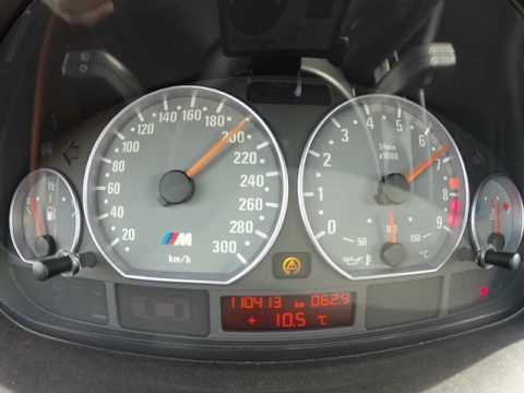 BMW E46 M3 4.10 diff 0-240 km/h acceleration