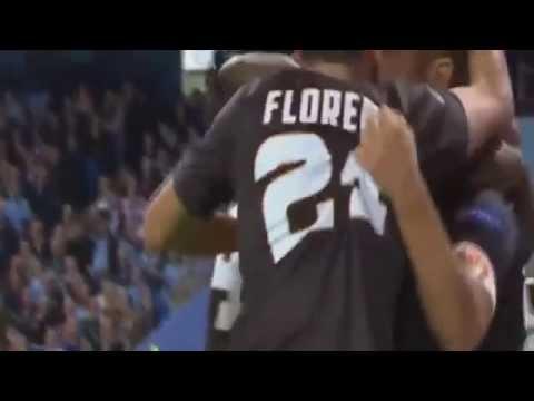 manchester city - roma 1-1: il bellissimo gol di francesco totti