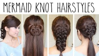 Easy Knotted Hairstyles - Mermaid Knot Braid Hair Tutorial - YouTube