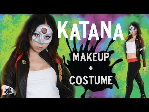 Suicide Squad Katana Makeup Tutorial DIY Cosplay